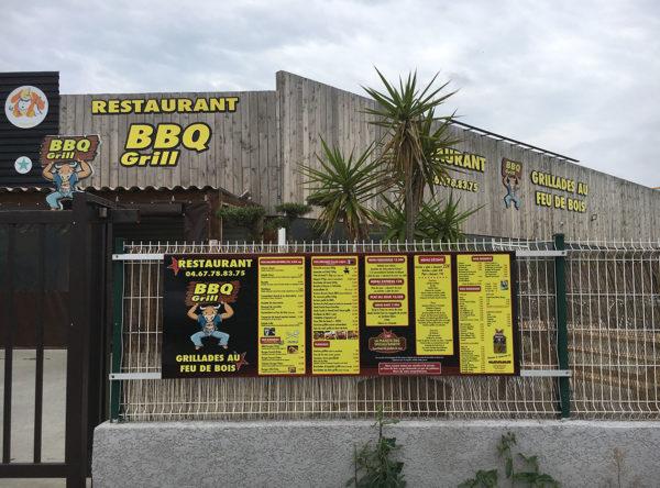 restaurant BBQ-Grill enseigne
