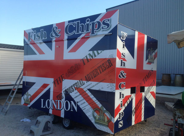 fish & chips marquage publicitaire sur food-truck