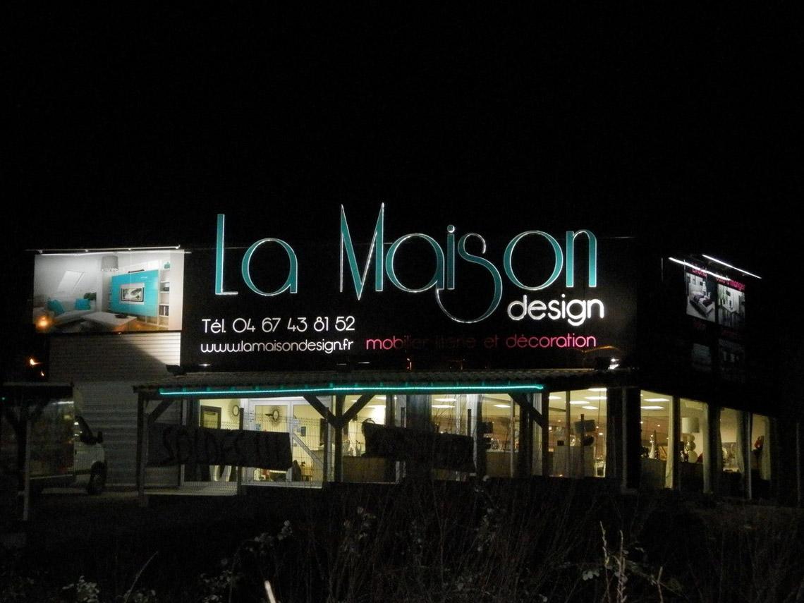 La maison design enseigne lumineuse