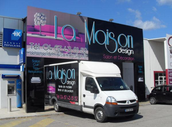 La Maison Design enseigne et marquage publicitaire à Gigean