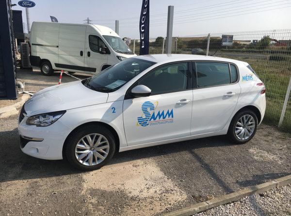 Metis-Samm marquage publicitaire véhicule à Sète