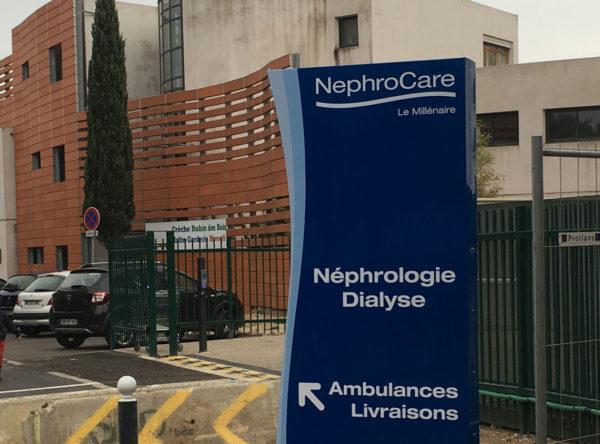 Nephrocare signalétique totem à Montpellier