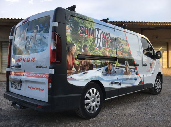 Sommum Wellness marquage-publicitaire véhicule demi covering