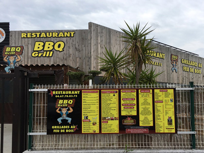 Restaurant Enseignes BBQ Grill