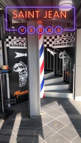 escalier intérieur barber men