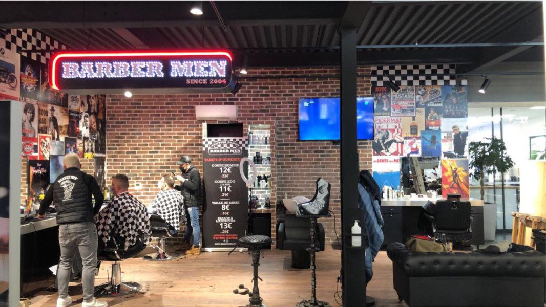 décoration magasin barber shop grafic stick